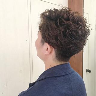 坊主 モテ髪 パーマ ストリート ヘアスタイルや髪型の写真・画像