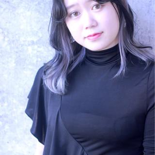 グレージュ ブルージュ モード ミディアム ヘアスタイルや髪型の写真・画像