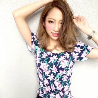ミディアム グラデーションカラー ストリート 外国人風 ヘアスタイルや髪型の写真・画像