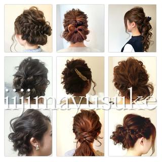 簡単ヘアアレンジ ハーフアップ 大人かわいい ショート ヘアスタイルや髪型の写真・画像 ヘアスタイルや髪型の写真・画像