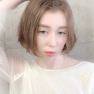 透明感カラー グレージュ デート 春ヘア ヘアスタイルや髪型の写真・画像