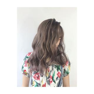 艶髪 セミロング うる艶カラー デート ヘアスタイルや髪型の写真・画像