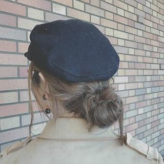 アウトドア 簡単ヘアアレンジ ゆるふわ デート ヘアスタイルや髪型の写真・画像