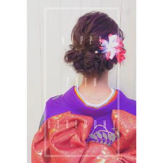 ショート ミディアム ヘアアレンジ 大人女子 ヘアスタイルや髪型の写真・画像