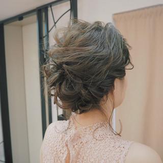 簡単ヘアアレンジ ショート ミディアム 編み込み ヘアスタイルや髪型の写真・画像