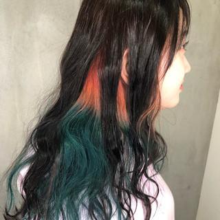 成人式 ストリート ハイライト インナーカラー ヘアスタイルや髪型の写真・画像