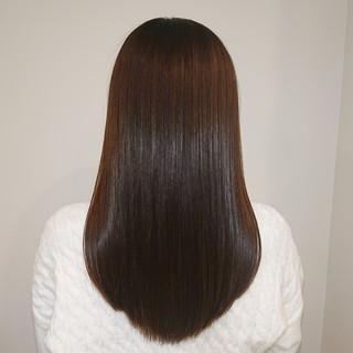 ロング 縮毛矯正 髪質改善 美髪 ヘアスタイルや髪型の写真・画像