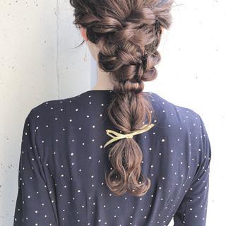 ロング 簡単ヘアアレンジ ヘアアレンジ お呼ばれ ヘアスタイルや髪型の写真・画像 ヘアスタイルや髪型の写真・画像