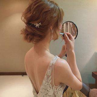 デート 結婚式 ヘアアレンジ ナチュラル ヘアスタイルや髪型の写真・画像
