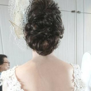 上品 ロング 結婚式 ヘアアレンジ ヘアスタイルや髪型の写真・画像