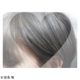 グラデーションカラー ショート グレージュ ハイトーン ヘアスタイルや髪型の写真・画像