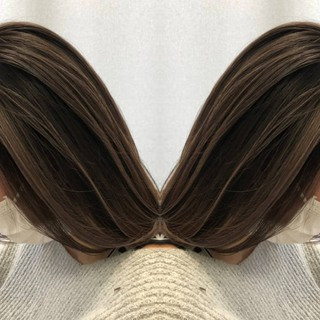 グラデーションカラー イルミナカラー ナチュラル グレージュ ヘアスタイルや髪型の写真・画像