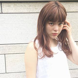 セミロング ナチュラル 簡単スタイリング デート ヘアスタイルや髪型の写真・画像
