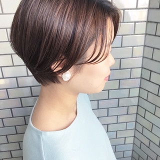 前下がりショート ベリーショート ショートヘア ハンサムショート ヘアスタイルや髪型の写真・画像