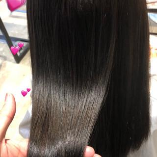 デート サイエンスアクア グレージュ ロング ヘアスタイルや髪型の写真・画像
