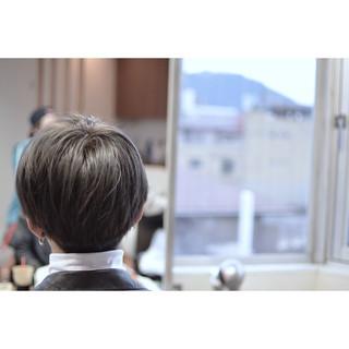 ショート シルバー 外国人風カラー シルバーアッシュ ヘアスタイルや髪型の写真・画像 ヘアスタイルや髪型の写真・画像