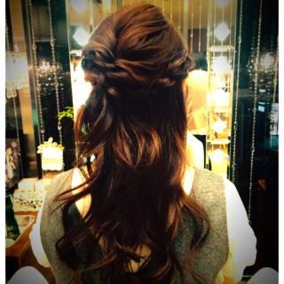 ロング 大人かわいい ゆるふわ ヘアアレンジ ヘアスタイルや髪型の写真・画像
