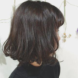暗髪 色気 冬 アッシュ ヘアスタイルや髪型の写真・画像