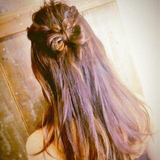 ガーリー ヘアアレンジ ロング 大人女子 ヘアスタイルや髪型の写真・画像 ヘアスタイルや髪型の写真・画像