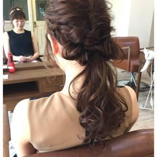 ヘアアレンジ 編み込み ゆるふわ ナチュラル ヘアスタイルや髪型の写真・画像