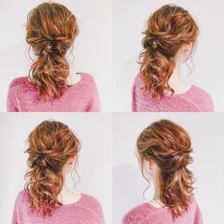 くるりんぱ 上品 ヘアアレンジ 簡単ヘアアレンジ ヘアスタイルや髪型の写真・画像