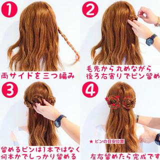 ロング 簡単ヘアアレンジ ヘアアレンジ 女子会 ヘアスタイルや髪型の写真・画像