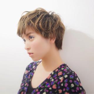 外国人風 ストリート 小顔 パーマ ヘアスタイルや髪型の写真・画像