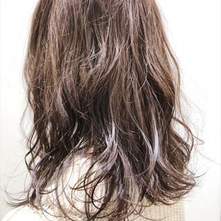 アディクシーカラー ラベンダーピンク セミロング ベリーピンク ヘアスタイルや髪型の写真・画像