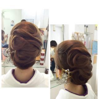 ヘアアレンジ 大人女子 和装 ミディアム ヘアスタイルや髪型の写真・画像