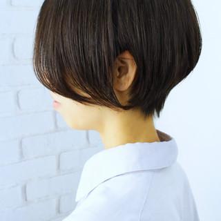 ショート 黒髪 小顔ショート デート ヘアスタイルや髪型の写真・画像