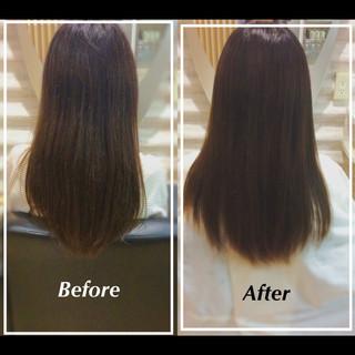 髪質改善トリートメント 社会人の味方 艶髪 ナチュラル ヘアスタイルや髪型の写真・画像