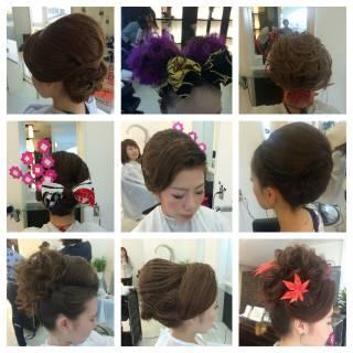 ヘアアレンジ ロング お祭り 夜会巻 ヘアスタイルや髪型の写真・画像 ヘアスタイルや髪型の写真・画像