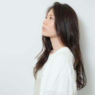 グラデーションカラー 黒髪 外国人風 ロング ヘアスタイルや髪型の写真・画像