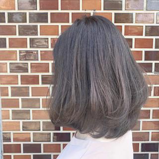透明感カラー ナチュラル ミディアム ゆるふわ ヘアスタイルや髪型の写真・画像