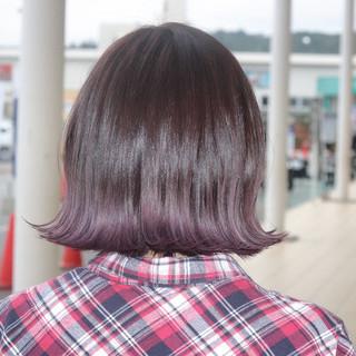 ガーリー グラデーションカラー 外国人風 ボブ ヘアスタイルや髪型の写真・画像