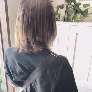 デート 透明感カラー 外国人風カラー ボブ ヘアスタイルや髪型の写真・画像