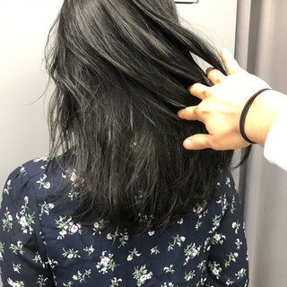ブルージュ 就活 暗髪 グレージュ ヘアスタイルや髪型の写真・画像