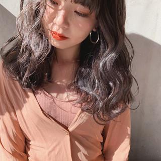 透明感カラー アッシュグレージュ ミルクティーベージュ インナーカラー ヘアスタイルや髪型の写真・画像