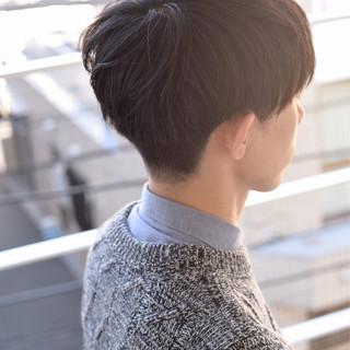 ツーブロック ナチュラル メンズショート ショート ヘアスタイルや髪型の写真・画像