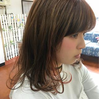 ストリート メッシュ 外国人風 セミロング ヘアスタイルや髪型の写真・画像