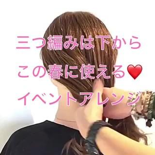 卒業式 謝恩会 ヘアアレンジ フェミニン ヘアスタイルや髪型の写真・画像