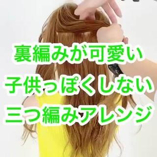 ヘアアレンジ フェミニン 簡単ヘアアレンジ ロング ヘアスタイルや髪型の写真・画像