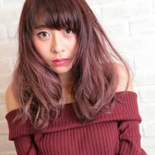秋 ガーリー ゆるふわ マルサラ ヘアスタイルや髪型の写真・画像 ヘアスタイルや髪型の写真・画像