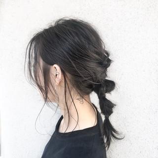 フェミニン ミディアム 地毛風カラー デート ヘアスタイルや髪型の写真・画像