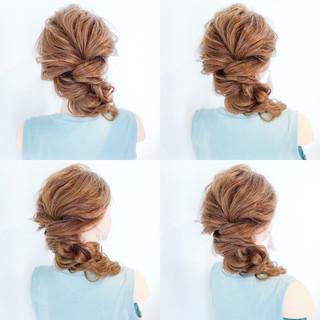 夏 デート 結婚式 簡単ヘアアレンジ ヘアスタイルや髪型の写真・画像