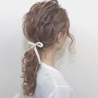 愛され 簡単ヘアアレンジ ショート セミロング ヘアスタイルや髪型の写真・画像
