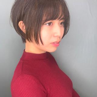 ナチュラル 簡単スタイリング 黒髪 ショート ヘアスタイルや髪型の写真・画像