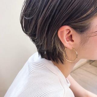 外国人風カラー バングインナーカラー インナーカラー アンニュイほつれヘア ヘアスタイルや髪型の写真・画像