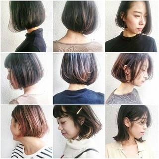 ボブ 抜け感 外国人風 ストリート ヘアスタイルや髪型の写真・画像
