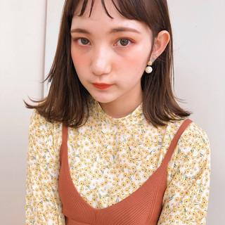 アンニュイほつれヘア フェミニン ワンカールスタイリング シースルーバング ヘアスタイルや髪型の写真・画像